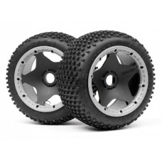 DIRT BUSTER BLOCK TIRE S COMPOUND on BLACK WHEEL